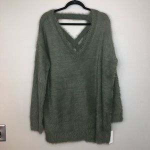 Ruby Moon Anthropologie Knit Tunic Olive Large